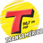 Logo da emissora Rádio Transamérica Pop 90.7 FM