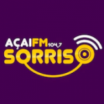 Logo da emissora Rádio Açaí Sorriso 104.7 FM