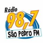 Logo da emissora Rádio São Pedro 98.7 FM