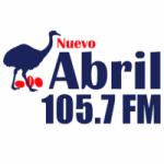 Logo da emissora Radio Nuevo Abril 105.7 FM