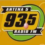 Logo da emissora Radio Antena 5 93.5 FM