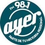 Logo da emissora Radio Ayer 98.1 FM
