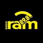Logo da emissora Ram 89.8 FM