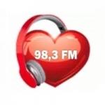 Logo da emissora Rede do Coração 98.3 FM