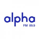 Logo da emissora Rádio Alpha 89.9 FM