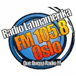 Logo da emissora Latin Amerika 105.8 FM