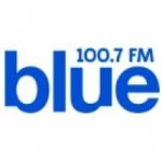 Logo da emissora Radio Blue 100.7 FM