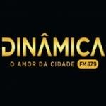 Logo da emissora Rádio Dinâmica 87.9 FM