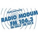 Logo da emissora Modum 106. 3 FM