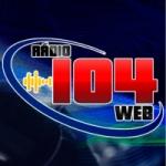 Logo da emissora Rádio Web 104