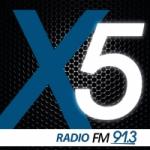 Logo da emissora Radio X5 91.3 FM