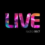 Logo da emissora Radio Live 99.7 FM