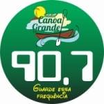 Logo da emissora Rádio Canoa Grande 90.7 FM