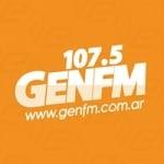 Logo da emissora Radio Gen 107.5 FM