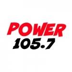 Logo da emissora Radio Power 105.7 FM