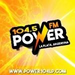 Logo da emissora Radio Power 104.5 FM
