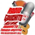 Logo da emissora Radio Gauchito Gil 104.9 FM