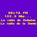 Logo da emissora Radio Delta 105.9 FM