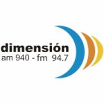 Logo da emissora Radio Dimensión 940 AM 94.7 FM
