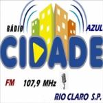 Logo da emissora Rádio Cidade Azul 107.9 FM