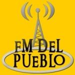 Logo da emissora Radio del Pueblo 100.7 FM