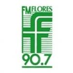 Logo da emissora Radio Flores 90.7 FM