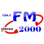 Logo da emissora Radio FM 2000 104.1 FM