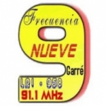 Logo da emissora Radio Frecuencia 9 91.1 FM