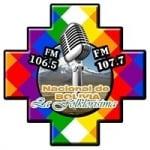 Logo da emissora Radio Nacional de Bolivia - La Folklorisima 106.5 - 107.7 FM