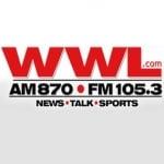 Logo da emissora Radio WWL 870 AM 105.3 FM
