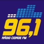 Logo da emissora Rádio Cidade 96.1 FM
