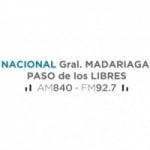 Logo da emissora Radio Nacional Gral Madariaga 840 AM 92.7 FM