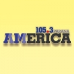 Logo da emissora Radio America 105.3 FM