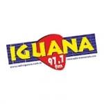 Logo da emissora Radio Iguana 97.7 FM