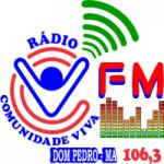 Logo da emissora Rádio Comunidade Viva 106.3 FM