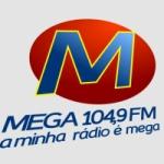 Logo da emissora Rádio  Mega 104.9 FM