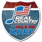 Logo da emissora Radio KBEF 104.5 FM