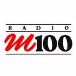 Logo da emissora Rádio M100 97.7 FM