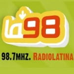 Logo da emissora Radio La 98 Radiolatina 98.7 FM