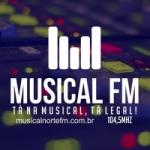 Logo da emissora Rádio Musical Norte 104.5 FM