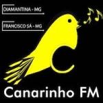 Logo da emissora Rádio Canarinho 97.7 FM