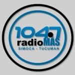 Logo da emissora Radio Más 104.7 FM