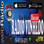 Logo da emissora Rádio Vinhedo
