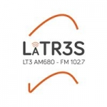 Logo da emissora Radio LT3 680 AM 102.7 FM