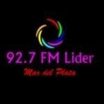 Logo da emissora Radio Líder 92.7 FM