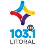 Logo da emissora Radio Litoral 103.1 FM