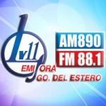 Logo da emissora Radio LV11 890 AM 88.1 FM
