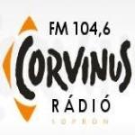 Logo da emissora Corvinus Radio 104.6 FM