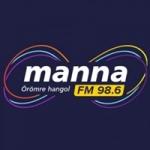 Logo da emissora Manna 98.6 FM
