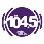 Logo da emissora Rádio Aleluia 104.5 FM